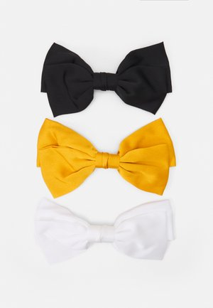 ONLMEREL BOW 3 PACK - Hair styling accessory - black/yellow/off white