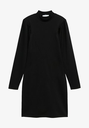 DERIBES - Shift dress - zwart