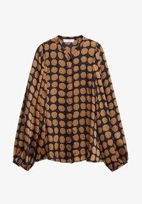 Mango - GEOMETRISCHEM MUSTER - Button-down blouse - karamell - 5