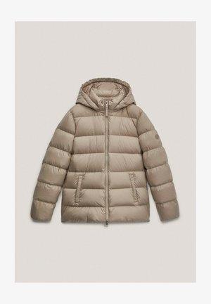 Gewatteerde jas - beige