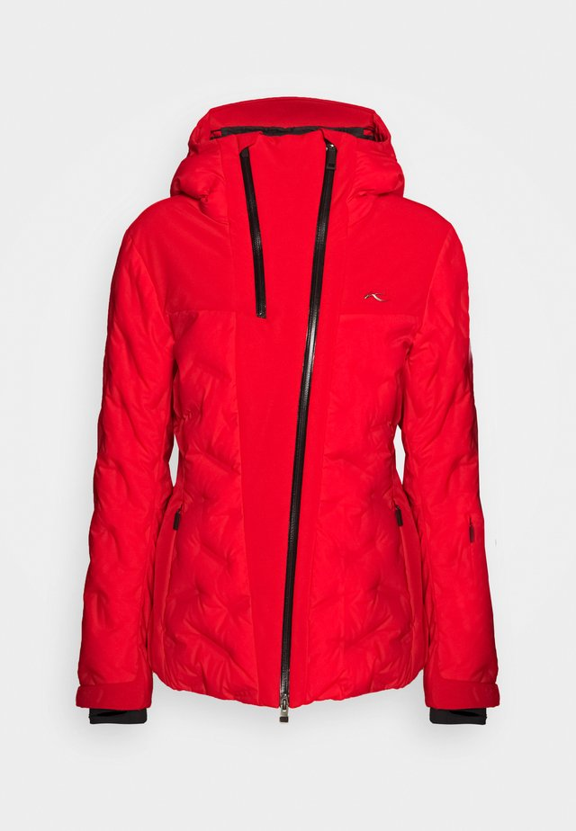 WOMEN ELA JACKET - Skijakke - fiery red