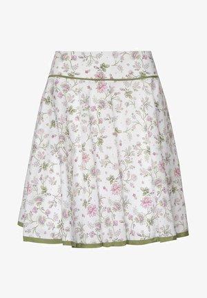 BURGAU - A-line skirt - weiß pink