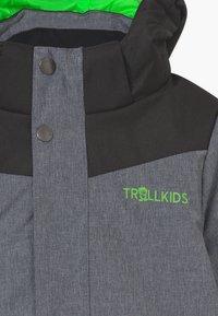 TrollKids - KIDS NOREFJELL  - Snowboard jacket - grey melange/bright green - 4