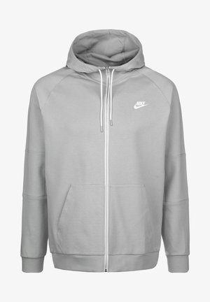 Zip-up hoodie - light smoke grey/ice silver/white/white