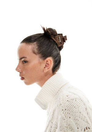 DOPPELPACK MATTE HAARKLAMMERN - Akcesoria do stylizacji włosów - mottled light brown
