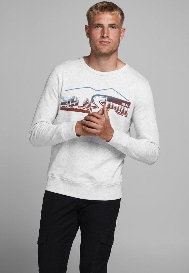 KLASSISCHES - Sweater - white melange