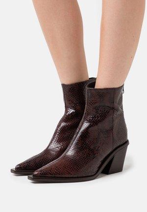 BADIANE - Classic ankle boots - marron foncé