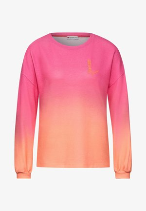 MIT FARBVERLAUF - Long sleeved top - orange