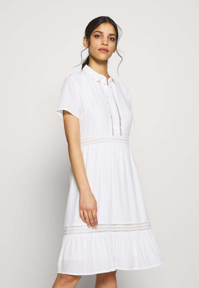 VILA PETITE - VIJESSAS DRESS - Shirt dress - cloud dancer
