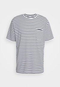 KURT - Triko spotiskem - navy stripe