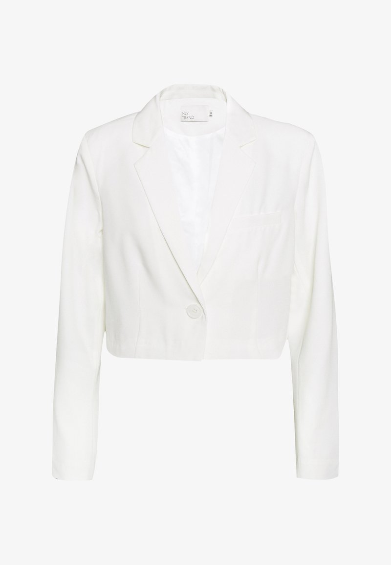 Nly by Nelly - CROPPED - Blazer - white