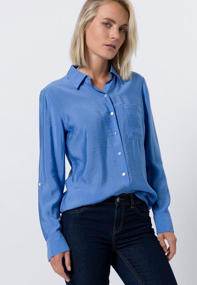 zero - Button-down blouse - viola blue
