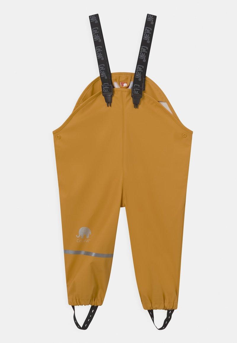CeLaVi - RAINWEAR SOLID UNISEX - Kurahousut - mineral yellow