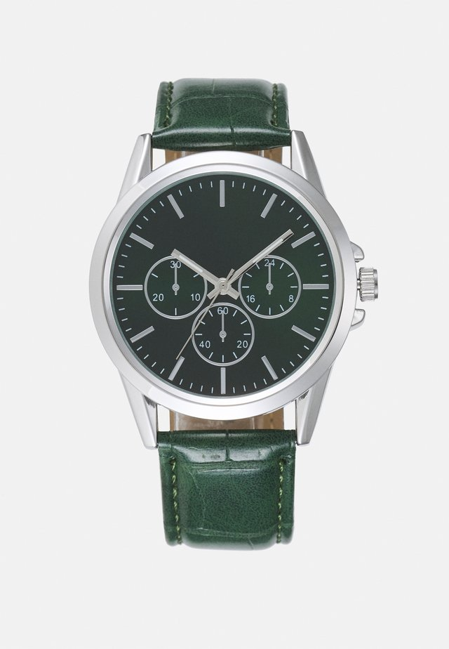 EMERALD FACE WATCH - Horloge - green/silver-coloured
