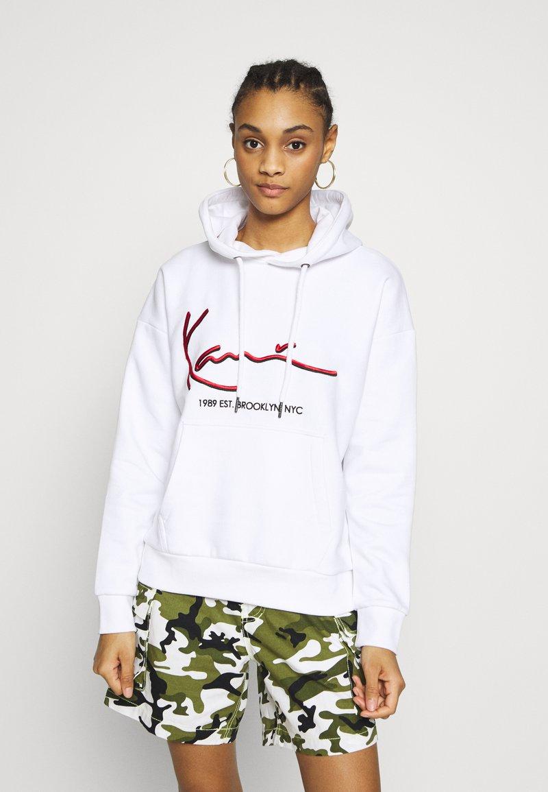 Karl Kani - SIGNATURE HOODIE - Hoodie - white/red