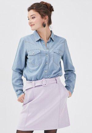 Button-down blouse - denim bleach