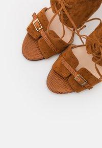 Pinko - FRANCINE - High heeled sandals - marrone - 6
