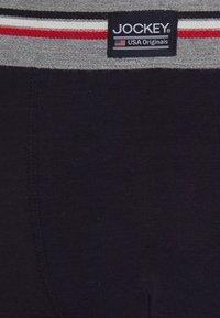 Jockey - COTTON STRETCH LONG LEG TRUNK 3 PACK - Boxerky - stone grey melange - 6