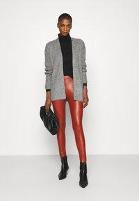 TOM TAILOR DENIM - Leggings - Trousers - rust orange - 1