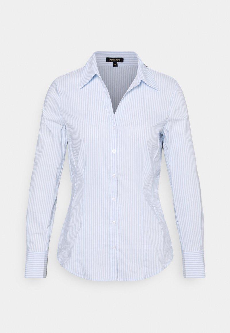More & More - WOVEN BILLA BLOUSE - Overhemdblouse - soft blue
