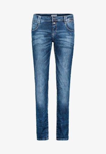 MIT REISSVERSCHLUSS - Straight leg jeans - blue