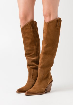 NEW-KOLE - High heeled boots - cognac
