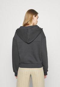 NU-IN - ELASTICATED HEM HALF ZIP HOODIE - Sweatshirt - dark grey - 2