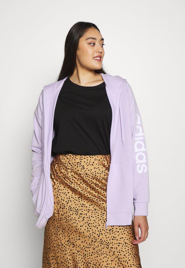 Mikina na zip - purple/white