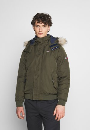 TECH BOMBER UNISEX - Winter jacket - dark olive