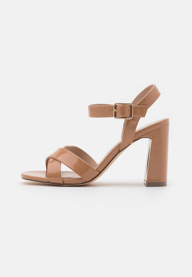 WIDE FIT SELENA - High heeled sandals - nude