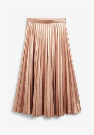 Pleated skirt - salmon