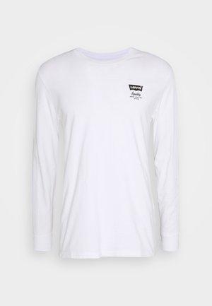 TEE UNISEX - Topper langermet - white