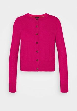 Cardigan - bright peony pink