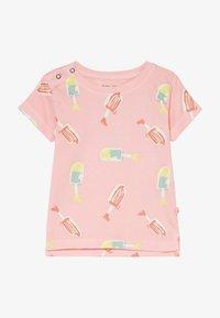 Smitten Organic - TEE BABY ZGREEN - Print T-shirt - powder pink - 2