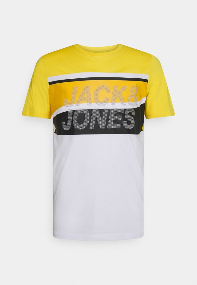 JCORESIST TEE CREW NECK  - T-shirts print - yellow