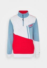COLORBLOCK ZIP MOCK NECK UNISEX - Sweatshirt - vintage denim/multi