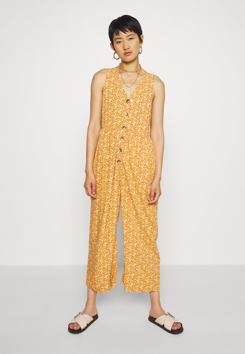 Madewell - TANK BUTTON FRONT CHALLIS IN FLORAL - Jumpsuit - vine floral mulled cider
