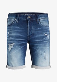 Jack & Jones - JEANSSHORTS RICK ICON - Denim shorts - blue denim - 6