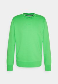 Calvin Klein Jeans - LOGO CREW NECK UNISEX - Sweatshirt - acid green - 0