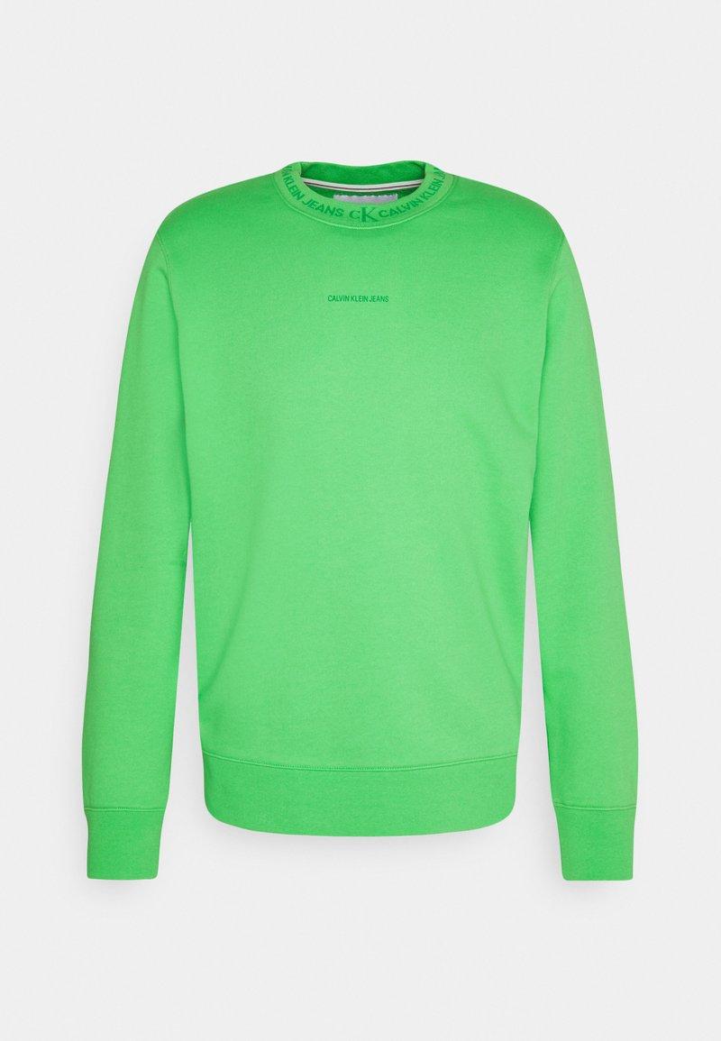 Calvin Klein Jeans - LOGO CREW NECK UNISEX - Sweatshirt - acid green