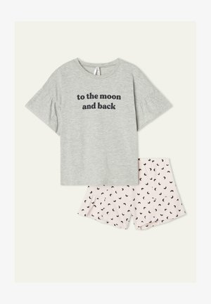 """TO THE MOON"" PRINT - Pyjama set - grigio mel.chiaro st.to the"