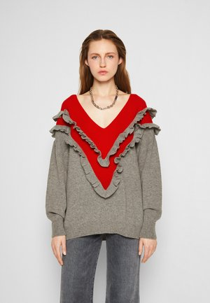 Neule - red/grey