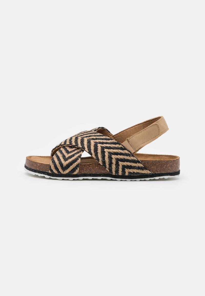 Cotton On - THEA CROSSOVER - Sandals - black/ecru