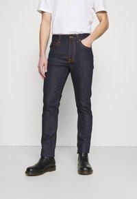 Nudie Jeans - LEAN DEAN - Džíny Slim Fit - dry ecru embo - 0