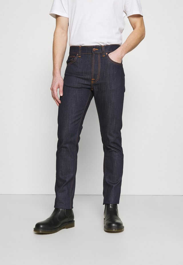 LEAN DEAN - Jeans slim fit - dry ecru embo