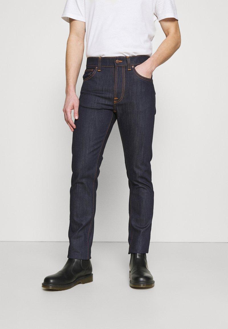 Nudie Jeans - LEAN DEAN - Džíny Slim Fit - dry ecru embo