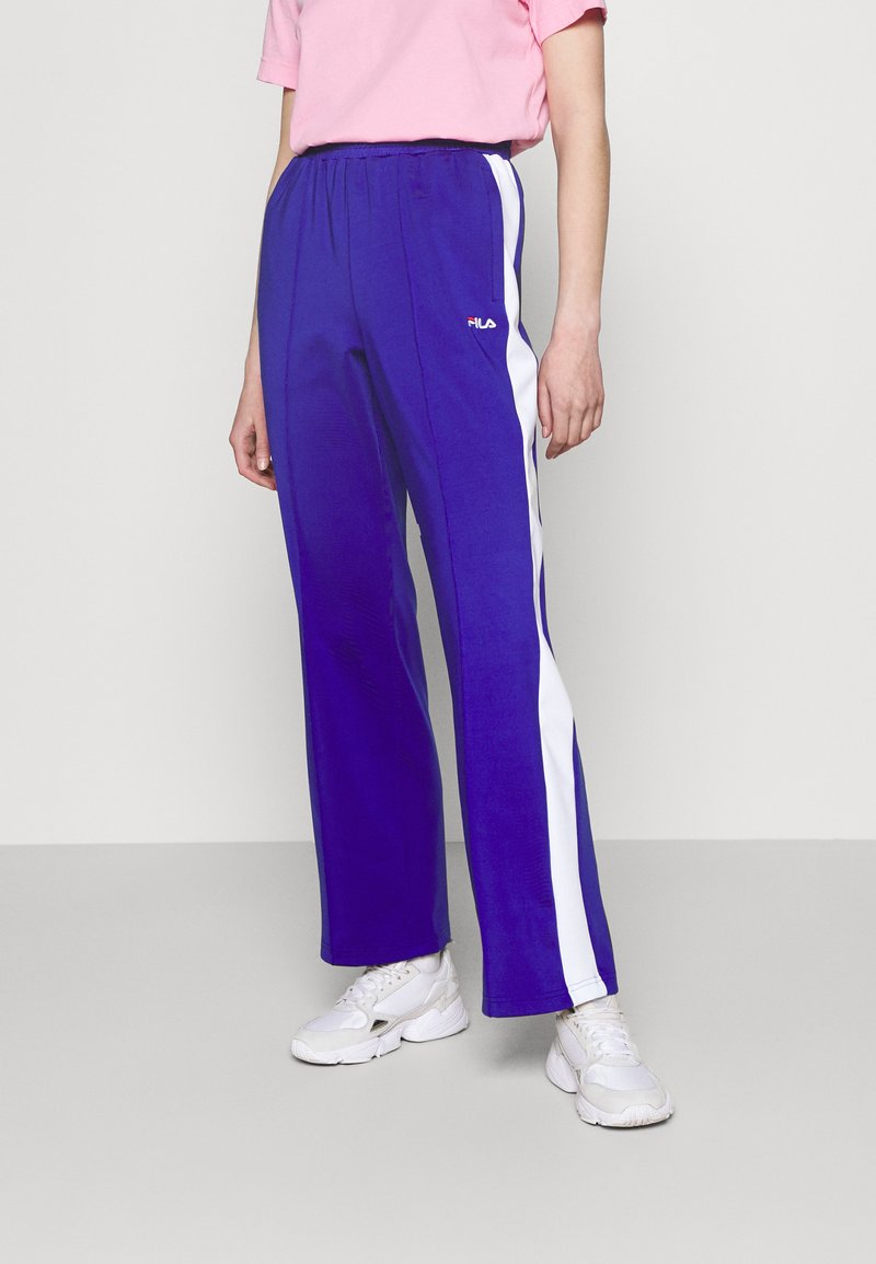 Fila - ALKAS TRACK PANT - Trousers - clematis blue/bright white