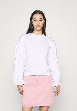 DETAILED SLEEVE - Sweatshirt - white