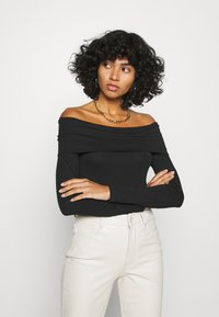 Vero Moda - VMPANDA OFF SHOULDER - Long sleeved top - black - 0