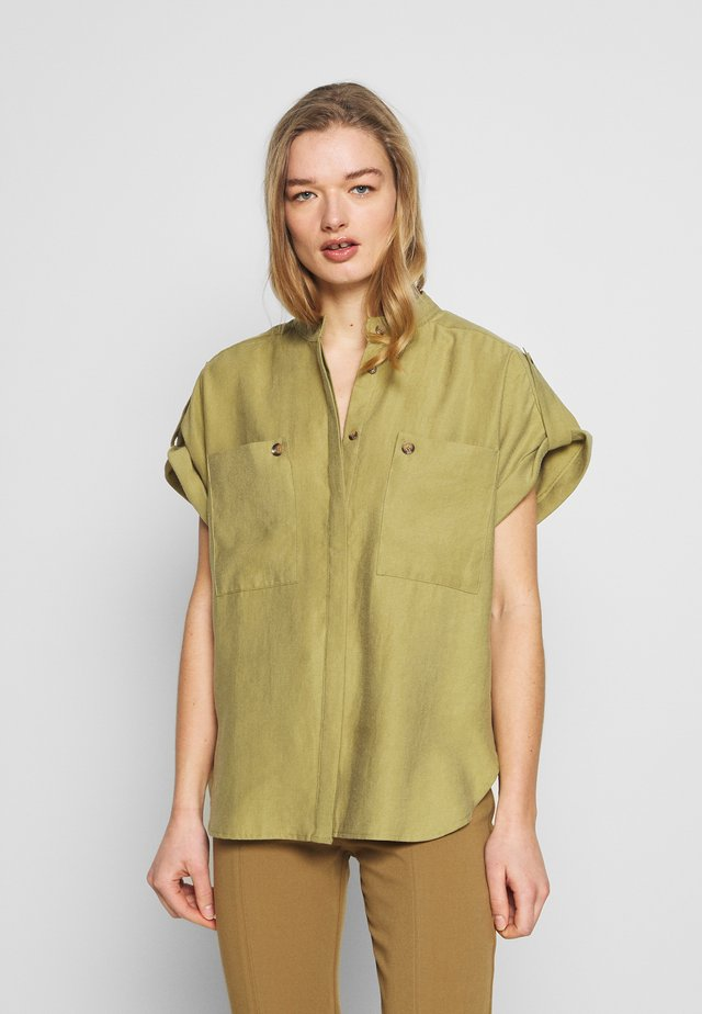 Button-down blouse - green moss
